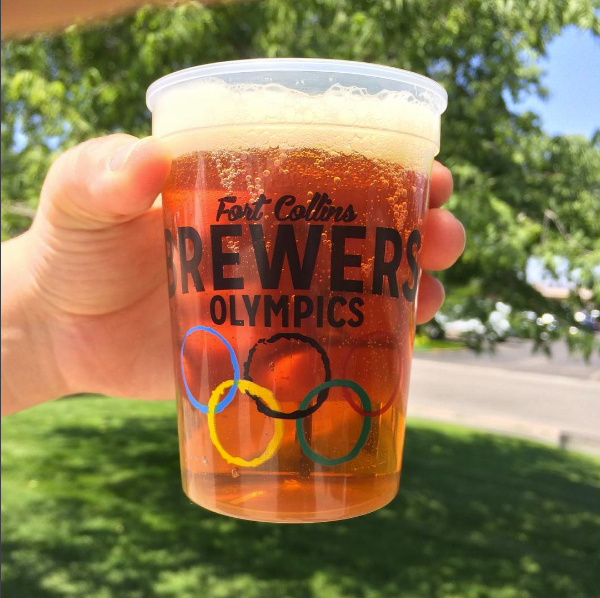 Fort Collins Brewers Olympics beer cup