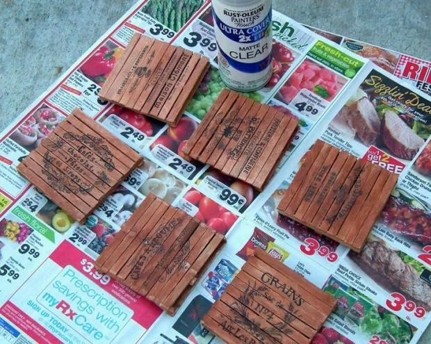 Revolution Artisan Pops Fort Collins Popsicles popsicle stick coasters